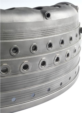 Combustor EDM drilled