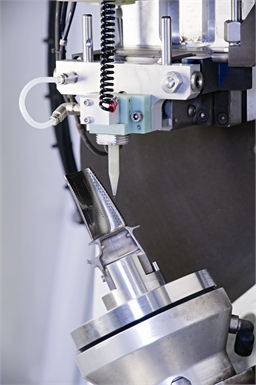 High Speed EDM single point drilling of a HP turbine blade